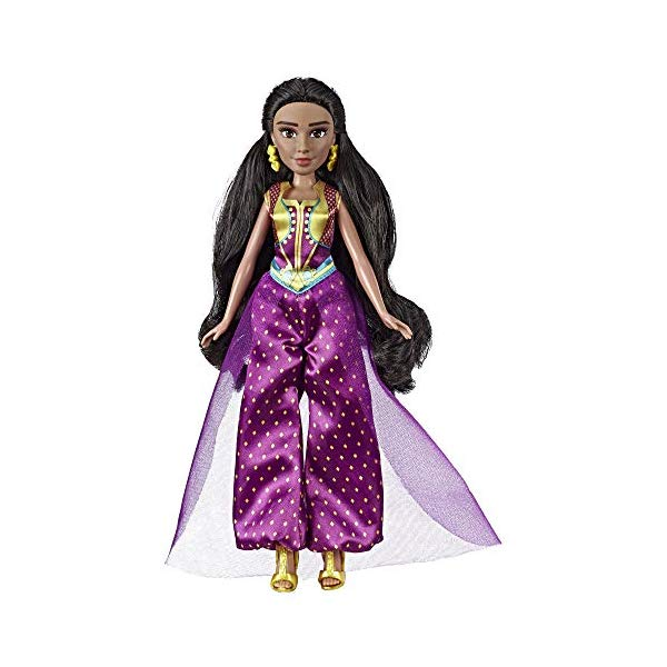 アラジン グッズ ジャスミン 実写版 ディズニー フィギュア ドール 人形 おもちゃ Disney Princess Jasmine Fashion Doll with Gown, Shoes, & Accessories, Inspired by Disney's Aladdin Live-Action Movie, Toy for 3 Year Olds