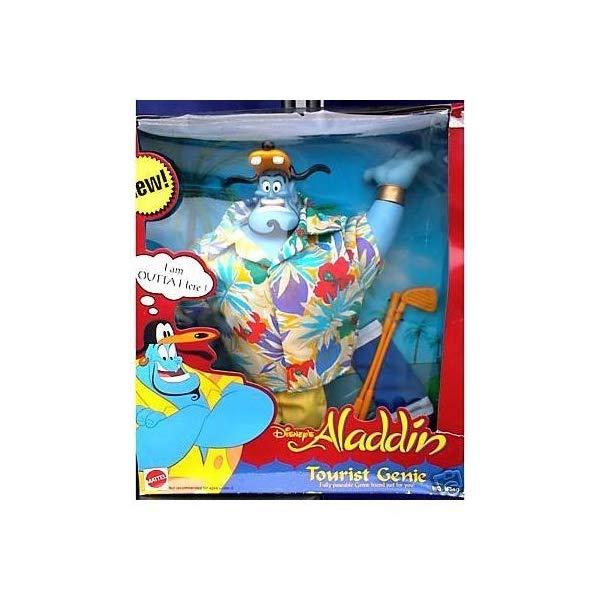アラジン グッズ ジーニー ディズニー フィギュア ドール 人形 おもちゃ Mattel Disney's Aladdin Tourist Genie by Disney