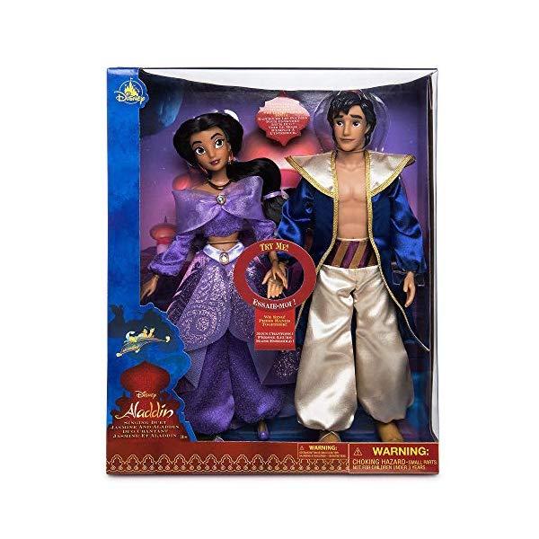アラジン グッズ ジャスミン ディズニー フィギュア ドール 人形 おもちゃ Disney Aladdin and Jasmine Singing Duet Doll Set
