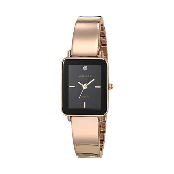 <title>アンクライン Anne Klein 腕時計 ウォッチ 時計 新登場 レディース 女性用 Women's Genuine Diamond Dial Bangle Watch</title>