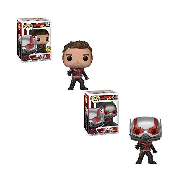 アントマン ワスプ ファンコ マーベル フィギュア 人形 限定版セット Funko POP! Marvel Ant-Man and The Wasp Movie: Ant-Man Bobble-Head LIMITED EDITION CHASE and Ant-Man Bobble-Head NON CHASE Toy Action Figure - 2 POP BUNDLE