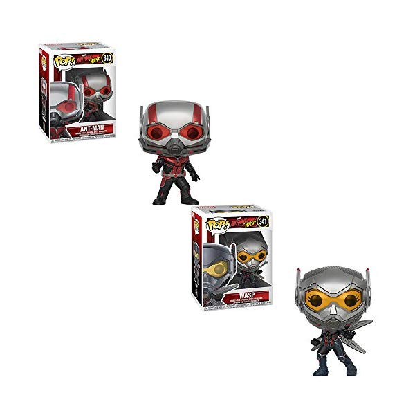アントマン ワスプ ファンコ マーベル フィギュア 人形 Funko POP! Marvel Ant-Man and The Wasp Movie: Ant-Man Bobble-Head and The Wasp Bobble-Head Toy Action Figure - 2 POP BUNDLE