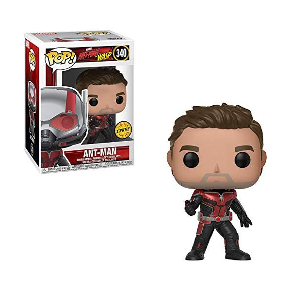 アントマン ワスプ ファンコ マーベル フィギュア 人形 Funko Ant-Man (Chase Edition): Ant-Man and the Wasp x POP! Marvel Vinyl Figure + 1 Official Marvel Trading Card Bundle [#340 / 30724]