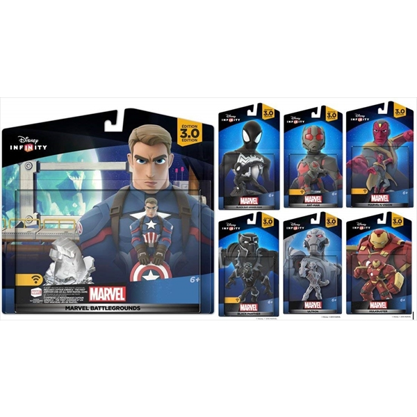 マーベル ディズニーインフィニティ 7体セット キャプテンアメリカ アントマン ブラックパンサー Disney Infinity 3.0 Marvel Battlegrounds Playset Themed Bundle Captain America Black Suit Spiderman, Black Panther, Ultron, Hulkbuster Iron-man, Vision and Ant-man