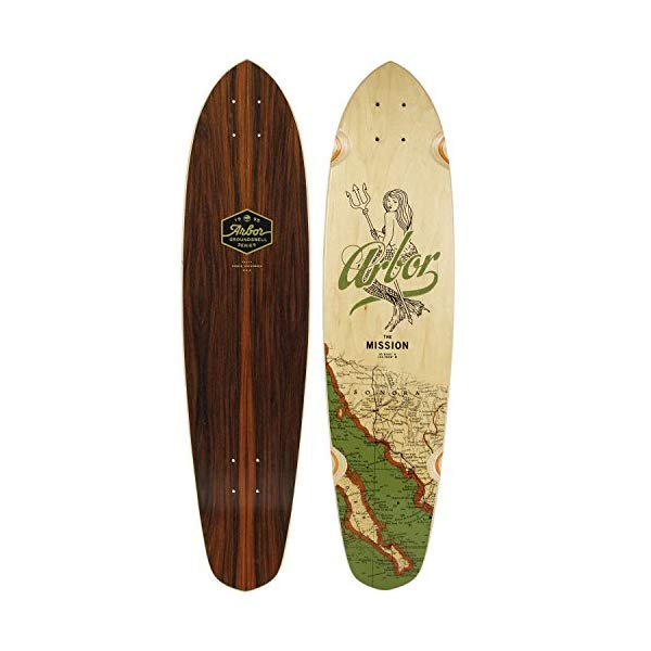 Arbor アーバー スケートボード スケボー デッキ 海外モデル アメリカ直輸入 海外正規品 Arbor Mission Groundswell Skateboard Deck, Nocturnal, 35