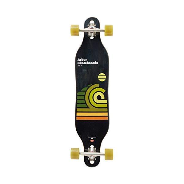 Arbor アーバー スケートボード スケボー 海外モデル アメリカ直輸入 海外正規品 Arbor Skateboard - Axis 37 Artist Draplin 2019