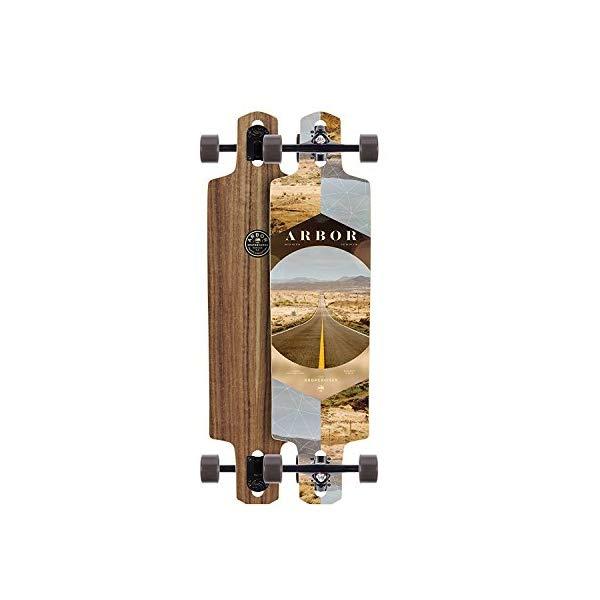 Arbor アーバー スケートボード スケボー ロングスケートボード ロングボード コンプリート 海外モデル アメリカ直輸入 海外正規品 Arbor Dropcruiser PC 2017 Walnut Complete Longboard New Premium Setup