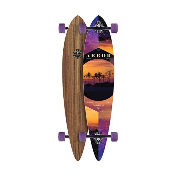 Arbor アーバー スケートボード スケボー ロングスケートボード ロングボード コンプリート ウィール 海外モデル アメリカ直輸入 海外正規品 Arbor Timeless 42 PC Longboard Complete New 2017 W/ Purple Wheels