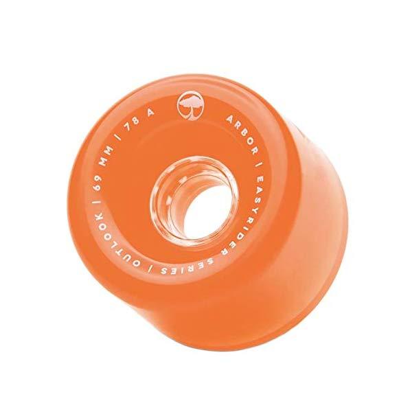 Arbor アーバー スケートボード スケボー ウィール 69mm ゴースト オレンジ 海外モデル アメリカ直輸入 海外正規品 Arbor Easyrider Series Outlook Skateboard Wheels Ghost Orange 69mm