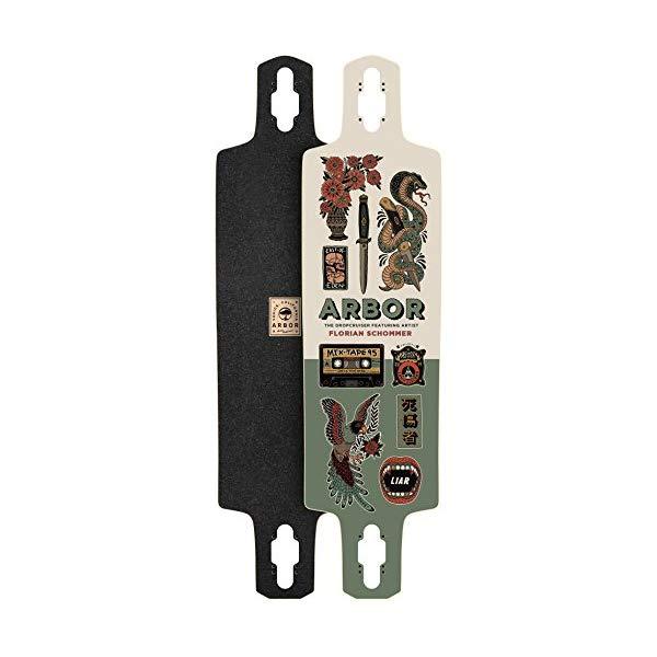Arbor アーバー スケートボード スケボー デッキ ロングスケートボード ロングボード 海外モデル アメリカ直輸入 海外正規品 Arbor Dropcruiser AC 2017 Longboard Deck New With Grip Tape