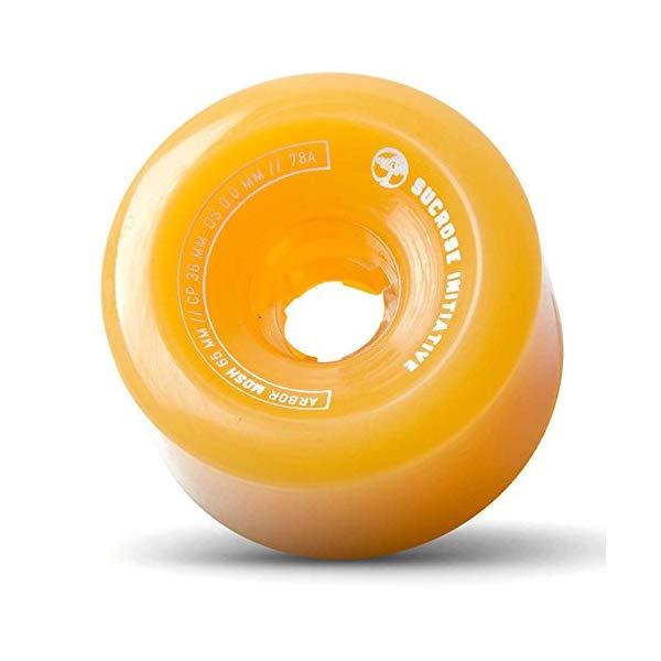 Arbor アーバー スケートボード スケボー ロングスケートボード ロングボード ウィール 65mm ゴースト オレンジ 海外モデル アメリカ直輸入 海外正規品 Arbor Mosh Fusion Longboard Wheels, Ghost オレンジ, 65mm 78a