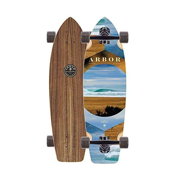 Arbor アーバー スケートボード スケボー 海外モデル アメリカ直輸入 海外正規品 Arbor Walnut Rally Skateboard Complete