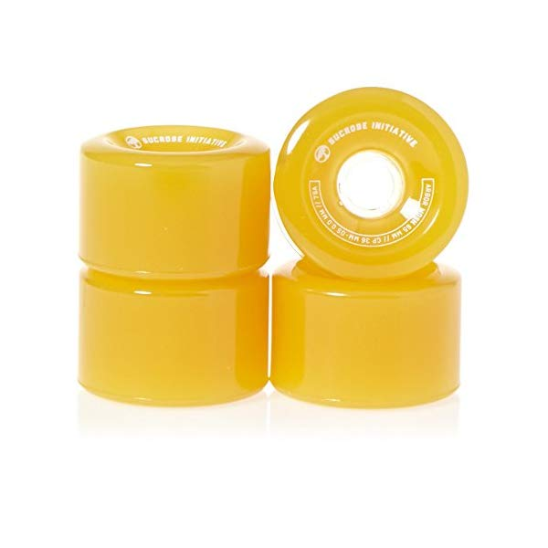 Arbor アーバー スケートボード スケボー ウィール 65mm ゴースト イエロー 海外モデル アメリカ直輸入 海外正規品 Arbor Mosh Fusion 65mm 78A Ghost Yellow (Set of 4)