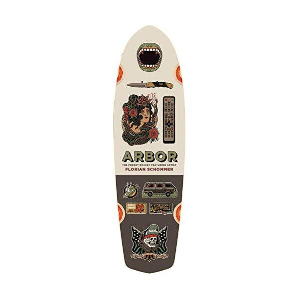 Arbor アーバー スケートボード スケボー デッキ 海外モデル アメリカ直輸入 海外正規品 Arbor Skateboards Artist Collection Pocket Rocket Skateboard Deck - 7.75
