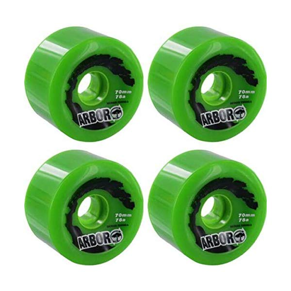 Arbor アーバー スケートボード スケボー ウィール 70 グリーン 海外モデル アメリカ直輸入 海外正規品 Arbor Skateboards Biothane Green Skateboard Wheels 70mm 78A (Set of 4)