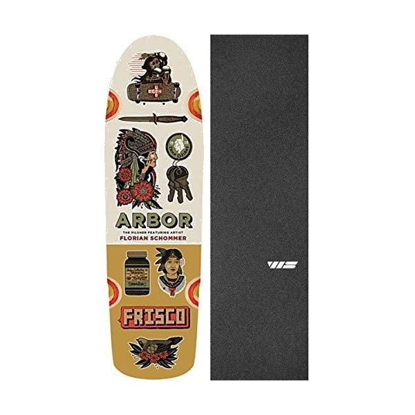 Arbor アーバー スケートボード スケボー デッキ 海外モデル アメリカ直輸入 海外正規品 Arbor Artist Pilsner Deck 8.25x28.75