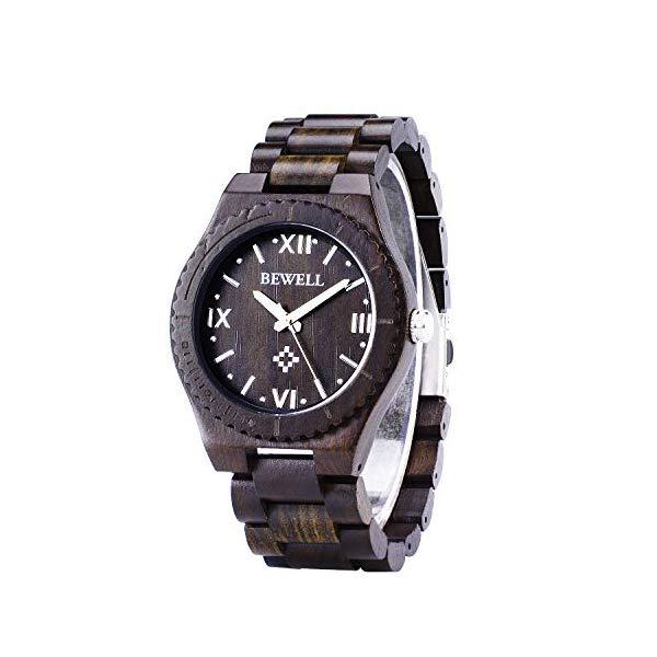 ビーウェル BEWELL ウッドウォッチ 木製腕時計 BEWELL Men Boy Big Dial Face Wooden Watch Handmade Lightweight Natural Business High-end Custom Luminous