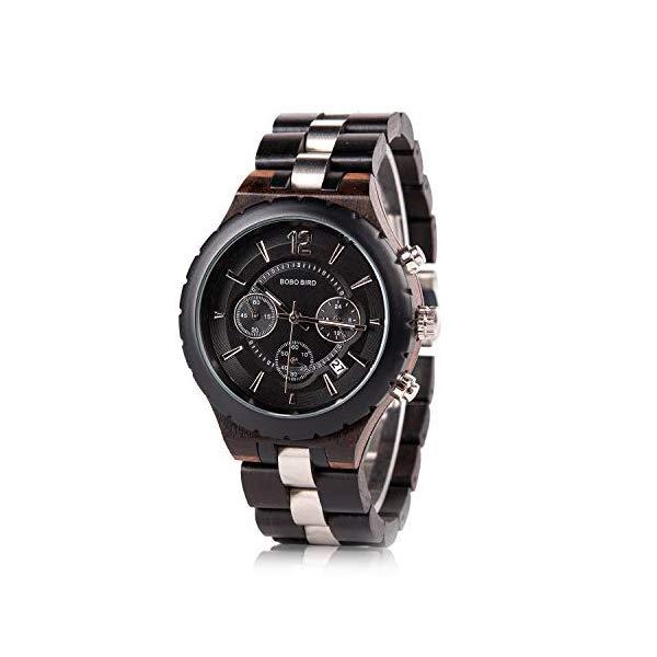 ボボバード BOBO BIRD 腕時計 木製 時計 ウッドウォッチ メンズ 男性用 BOBO BIRD Mens Luxury Stylish Wooden Watches Date & Chronograph Military Quartz Timepieces