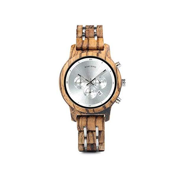 ボボバード BOBO BIRD 竹 腕時計 木製 時計 ウッドウォッチ レディース 女性用 BOBO BIRD Women Quartz Watch Chronograph Date Watch Waterproof Wood Wrist Watch with Wooden Box,Silver