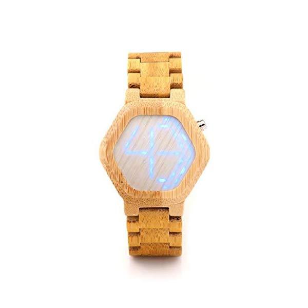 ボボバード BOBO BIRD 竹 腕時計 木製 時計 ウッドウォッチ メンズ 男性用 BOBO BIRD Men Bamboo Wood Watch Digital Watch Men Luminous カレンダー Wristwatch for Men