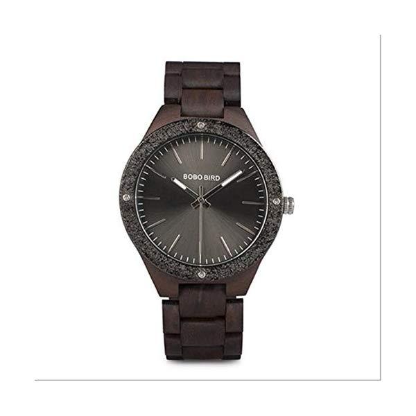 ボボバード BOBO BIRD 腕時計 木製 時計 ウッドウォッチ メンズ 男性用 BOBO BIRD Watch Men Quartz Wooden Wristwatch Luxury Men's Watch in Wooden Box Lover Watch Japan ムーブメント,Black