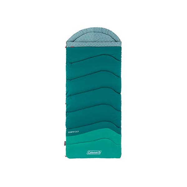 コールマン 寝袋 スリーピングバッグ シュラフ Coleman Cozy Foot Adult Sleeping Bag (40 Degrees), Multicolor
