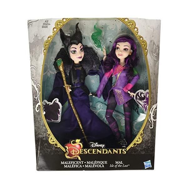 ディズニー ディセンダント マル・バーサ ドール 人形 フィギュア 着せ替え おもちゃ グッズ  ディズニー ディセンダント マル・バーサ ドール 人形 フィギュア 着せ替え おもちゃ グッズ Disney Descendants Two-Pack Mal Isle of the Lost and Maleficent Dolls