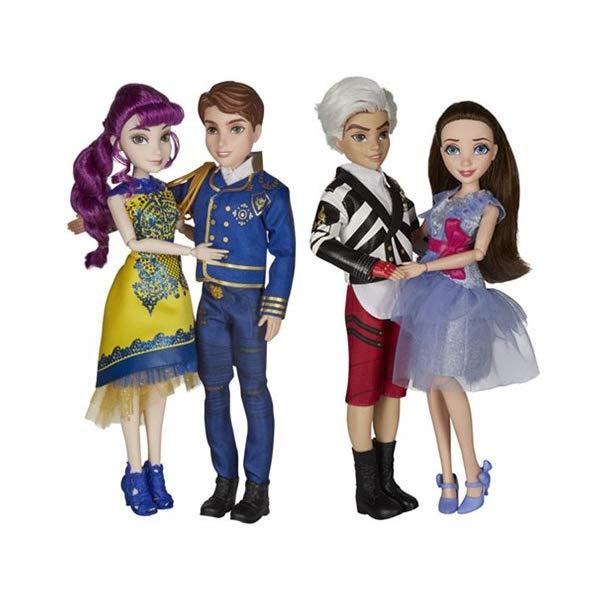 ディズニー ディセンダント ドール 人形 フィギュア 着せ替え おもちゃ グッズ  ディズニー ディセンダント ドール 人形 フィギュア 着せ替え おもちゃ グッズ Disney Descendants D2 Movie Dolls Two-Pack (BEN AND MAL, JANE AND CARLOS) Wave 1 SET