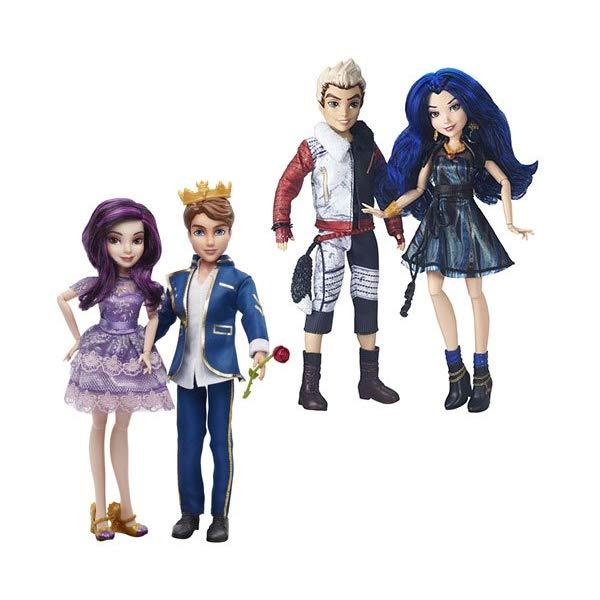 ディズニー ディセンダント イヴィ ベン ドール 人形 フィギュア 着せ替え おもちゃ グッズ  ディズニー ディセンダント イヴィ ベン ドール 人形 フィギュア 着せ替え おもちゃ グッズ Doll Disney Descendants Two-Pack Wave 1 MAL and Ben, Evie and Carlos Set