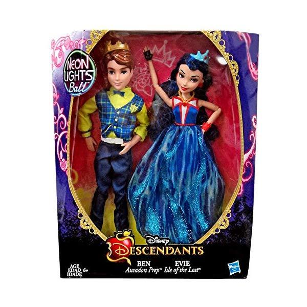 ディズニー ディセンダント イヴィ ベン ドール 人形 フィギュア 着せ替え おもちゃ グッズ Disneys Descendants Neon Exclusive Ben and Evie by Disney