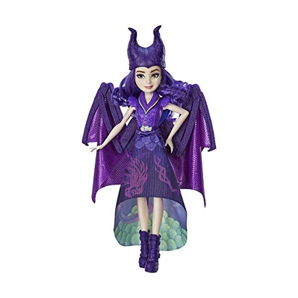 ディズニー ディセンダント マル・バーサ ドール 人形 フィギュア 着せ替え おもちゃ グッズ Disney Descendants Dragon Queen Mal, Fashion Doll Transforms to Winged Dragon