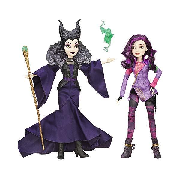 ディズニー ディセンダント マル・バーサ ドール 人形 フィギュア 着せ替え おもちゃ グッズ Disney Descendants Mal Isle of The Lost & Maleficent 2 Pack