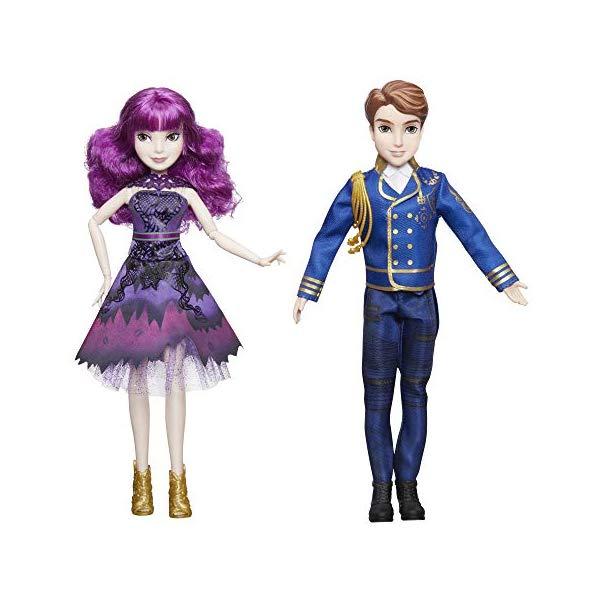 ディズニー ディセンダント マル・バーサ ベン ドール 人形 フィギュア 着せ替え おもちゃ グッズ Disney Descendants 2 Royal Cotillion Couple Mal and King Ben of Auradon Set-Descendants Dolls