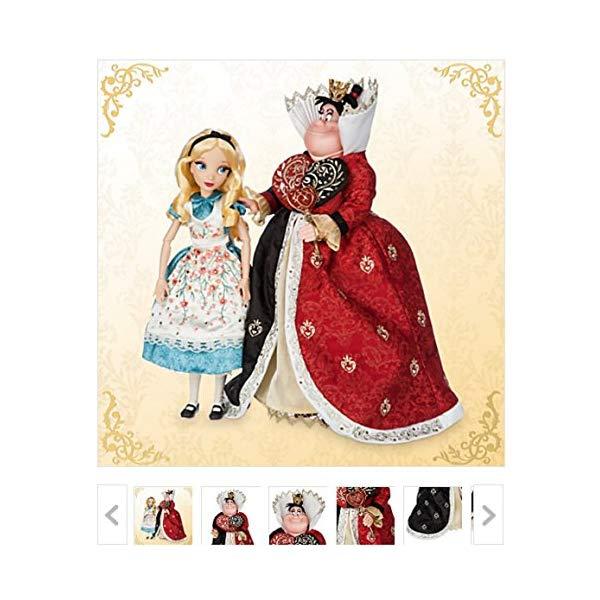 ディズニー ふしぎの国のアリス アリス ハートの女王 デザイナー コレクション Alice and The Queen of Hearts Doll Set - Alice in Wonderland - Disney Fairytale Designer Collection