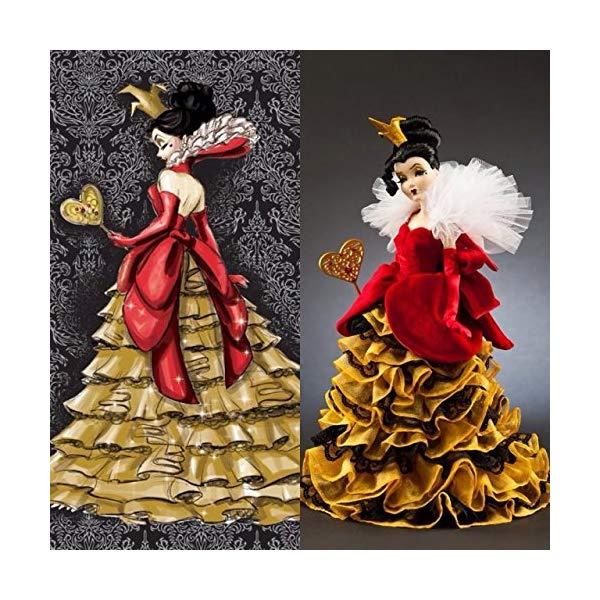 ディズニー 不思議の国のアリス ハートの女王 デザイナー コレクション Queen of Hearts Disney Villains Limited Edition Designer Collection Doll with Certificate of Authenticity
