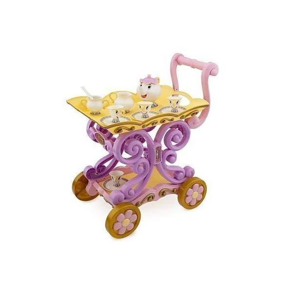 ディズニー 美女と野獣 ベル ティーカート プレイセット ポット婦人 Disney Princess Exclusive Belle Magical Tea Cart Play Set