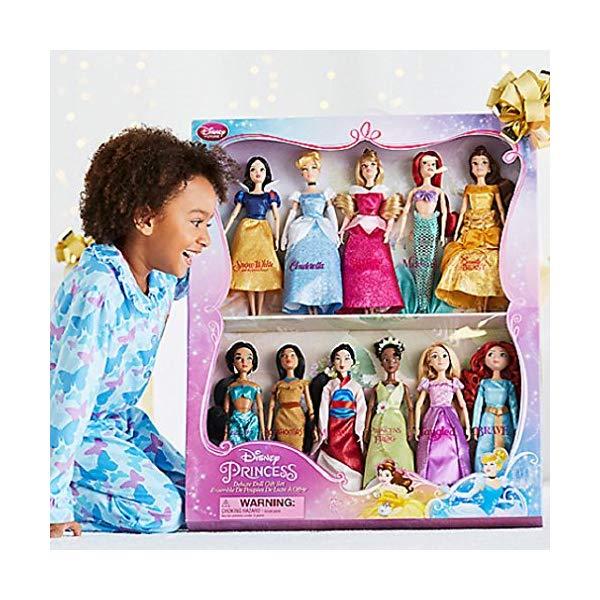 ディズニー プリンセス ドール 11体セット 白雪姫 シンデレラ ムーラン ポカホンタス アリエル ベル オーロラ姫 メリダ ラプンツェル ティアナ ジャスミン Disney Exclusive Princess Classic Doll Collection