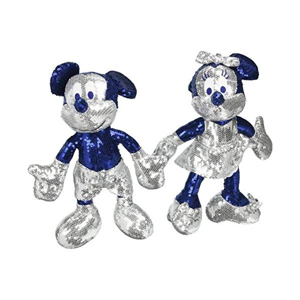 ディズニー ミッキーマウス ミニー スパンコール ぬいぐるみ 限定 Disney Disneyland Diamond Anniversary Sequin Mickey & Minnie Collectible Figures by
