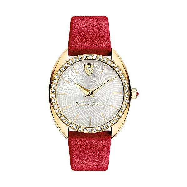 フェラーリ 腕時計 Ferrari 820018 ウォッチ レディース 女性用 Ferrari Donna Silver Dial Ladies Watch 820018
