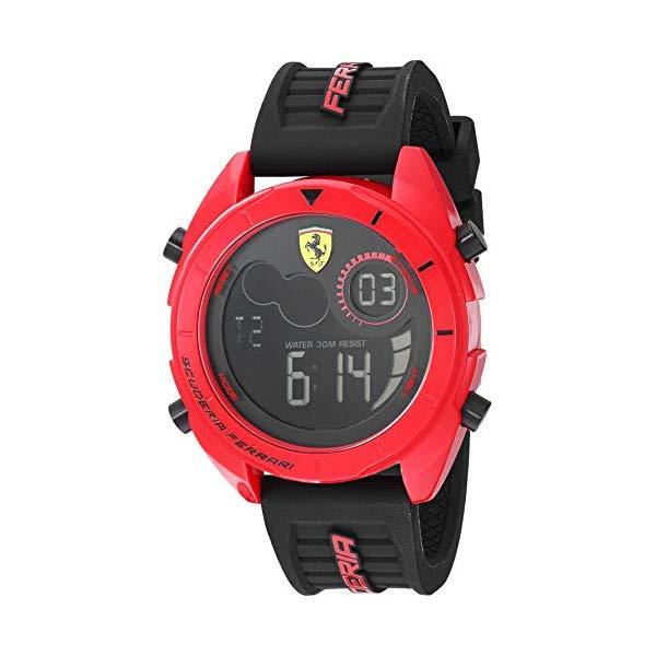 フェラーリ 腕時計 Ferrari 830549 ウォッチ メンズ 男性用 Ferrari Men's Forza Quartz Watch with Silicone Strap, Black, 22 (Model: 0830549