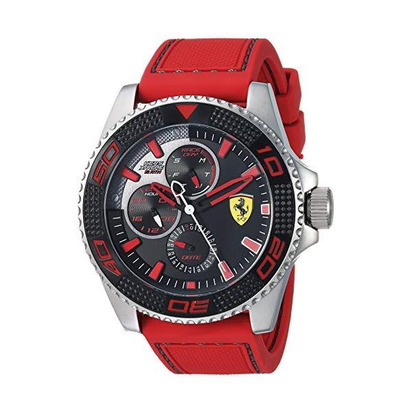 フェラーリ 腕時計 Ferrari 830469 ウォッチ メンズ 男性用 Ferrari Men's KERS Xtreme Stainless Steel Quartz Watch with Silicone Strap, red, 22 (Model: 0830469)