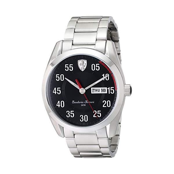 フェラーリ 腕時計 Ferrari 830180 ウォッチ メンズ 男性用 Ferrari Men's 0830180 D 50 Analog Display Quartz Silver Watch