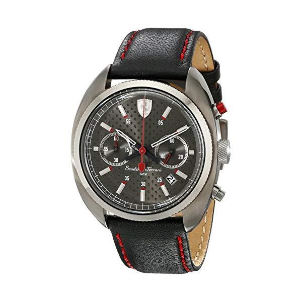 フェラーリ 腕時計 Ferrari 830209 ウォッチ フォーミュラ メンズ 男性用 Ferrari Men's 830209 Formula Sportiva Analog Display Quartz Black Watch