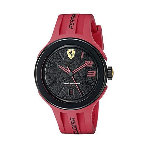 フェラーリ 腕時計 Ferrari 830220 ウォッチ メンズ 男性用 Ferrari Men's 830220 FXX Logo-Accented Watch with Red Band