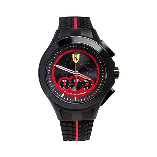 フェラーリ 腕時計 Ferrari 830028 ウォッチ メンズ 男性用 Ferrari Men's 830028 Analog Display Japanese Quartz Black Watch