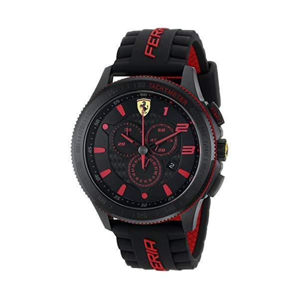 """フェラーリ 腕時計 Ferrari 830138 ウォッチ スクーデリア メンズ 男性用 Ferrari Men""""s 0830138 Scuderia XX Silicone Band Watch"""
