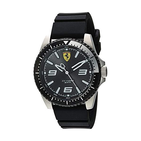 フェラーリ 腕時計 Ferrari 830464 ウォッチ メンズ 男性用 Ferrari Men's XX KERS Stainless Steel Quartz Watch with Silicone Strap, Black, 21 (Model: 0830464)