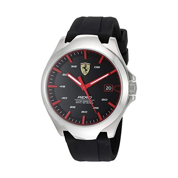 フェラーリ 腕時計 Ferrari 830506 ウォッチ メンズ 男性用 Ferrari Men's 0830506 Aero Analog Display Quartz Black Watch