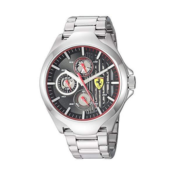 フェラーリ 腕時計 Ferrari 830508 ウォッチ メンズ 男性用 Ferrari Men's 0830508 Aero Analog Display Quartz Silver Watch