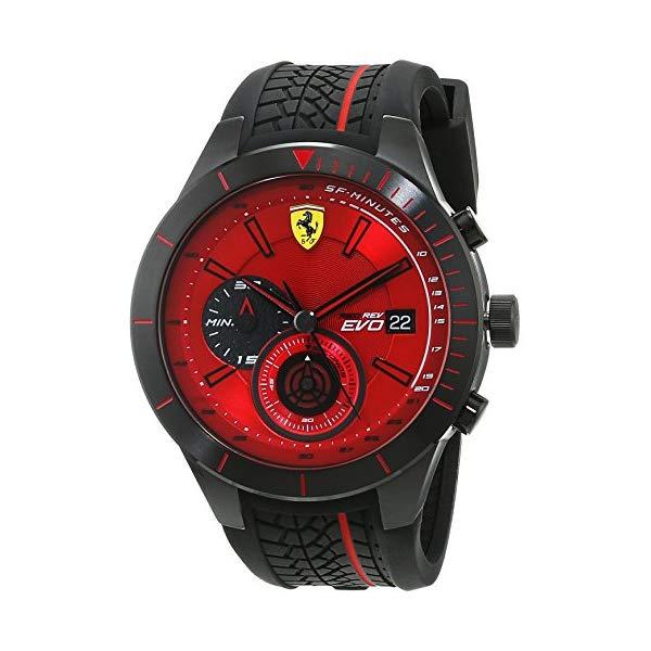 フェラーリ 腕時計 Ferrari 830343 ウォッチ メンズ 男性用 Ferrari Red Rev Chronograph Red Dial Mens Watch 830343